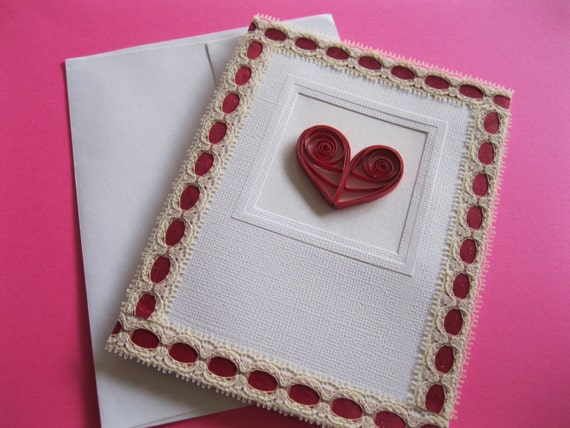 Valentines Day Quilled Heart Card