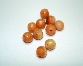 Multi Calcite Faceted Round Beads (Qty 10) - B1815