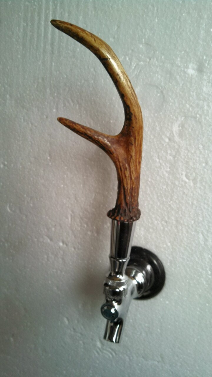 Custom Whitetail Deer Antler Stag Beer Tap Handle On Etsy