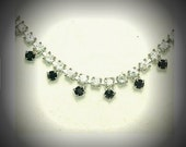 Stunning Brilliant Clear and Black Rhinestone Choker Necklace