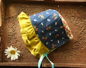 Vintage Inspired Baby Sun Bonnet READY TO SHIP in 12-18 Month