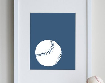 Baby Baseball Room Decor, sports nursery art 8 x 10 Art Print by nevedobson - different colors and sizes available