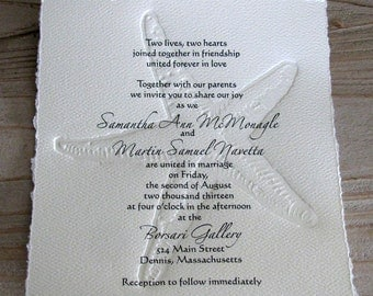 Starfish Invitation (set of 25)-perfect for Bridal Shower or for Beach Wedding