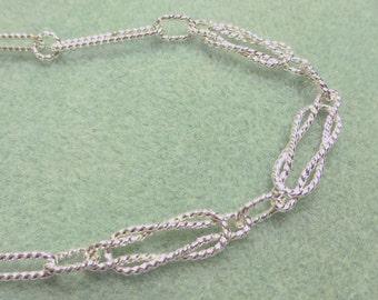 Artisan Handmade Sterling Silver  Love Knot Bracelet 8 3/4 Inches in Length
