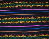 Woven Mexican Fabric Black 1 YARD D