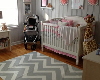 Custom floorcloth for nursery