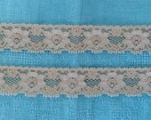 NEW- Stretch Lace BEIGE 1 inch -5 yards for 2.99