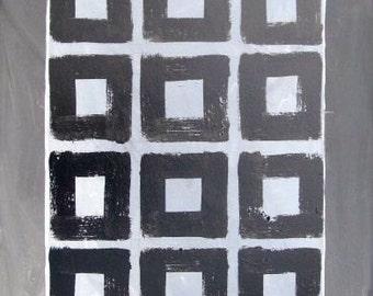Original Acrylic Geometric Painting