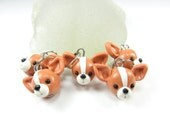 Chihuahua Stitch markers (set of 5) polymer clay dog stitch markers