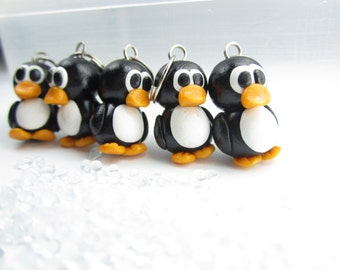 Penguin Stitch Markers (Set of 5), animal knitting stitch markers