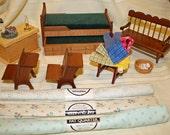 Destash Dollhouse/ Miniature  Bedroom Lot 120
