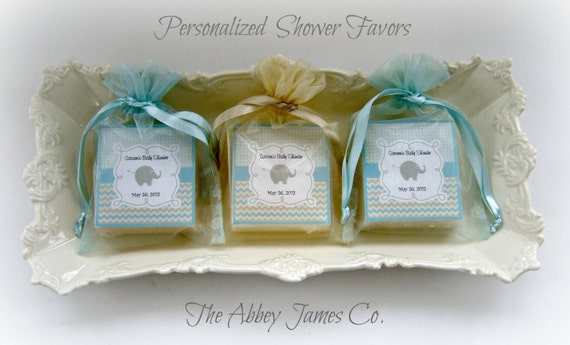 Baby Boy Shower Favors Soap Favors Elephant Baby Shower