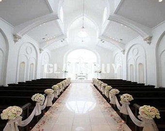 Wedding Chapel 10ft x 10ft Wedding Backdrop Computer Printed Photography Background HY-CM-1543