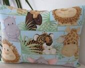 Jungle Babies Animals Travel Pillow- Toddler Pillow-