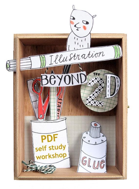 Illustratie WORKSHOP - illustratie buiten de 2D - cursus - zelfstudie - tekening - creative