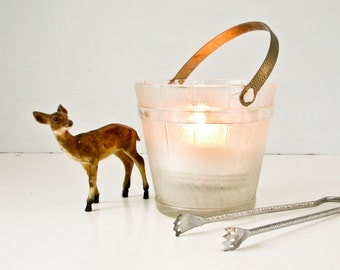 Glass Barrel Candle Holder - Ice Bucket