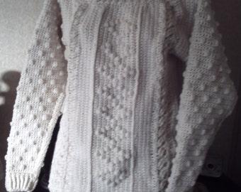 Celtic Irish Fisherman Bateau Neck Drop sleeve Sweater