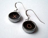 Hugs and Kisses XO Typewriter Key Earrings
