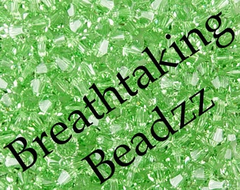 Swarovski Beads Crystal Bead 50 Peridot 4mm Bicone 5328 Many Colors In Stock