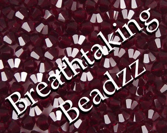 Swarovski Beads Crystal Bead 24 Siam 6mm Bicone 5328 Many Colors In Stock