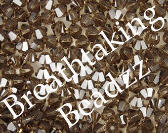CLEARANCE Swarovski Beads Crystal Bead 24 Smoky Quartz 6mm Bicone 5328 Many Colors In Stock,os