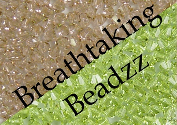 Swarovski Beads Crystal Bead 50 Cantaloupe 4mm Bicone 5328 Over 80 Colors In Stock ... last remaining packages
