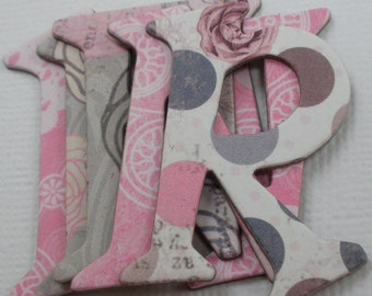 "ISABELLA - Designs - Chipboard Alphabet Letters & Die Cuts ....... 1.5"" Tall"