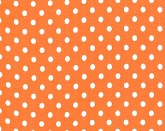Fat Quarter - Dumb Dot Tangerine Orange white Michael Miller Fabrics C2490-Tangerine