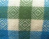 Retro 60's Fun Wool Blend Plaid