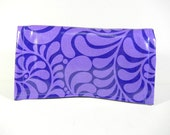 Waterproof Coupon Organizer Purple Swirls