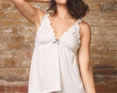Sale 20% off Cream and Grey Marl Babydoll and Panty Lingerie set