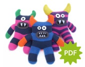 Make your own Sitting Sock Monster, PDF instructions