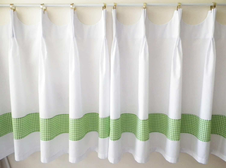 Green Cotton Curtain Panel