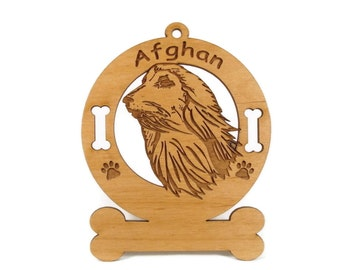 1052 Afghan Head Personalized Ornament - Free Shipping