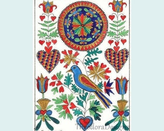 Fraktur With 36 Hearts   from Theodora