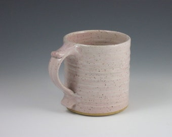 Glossy Very Pale Pink Thumbrest Coffee Mug