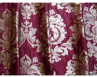 "Ruby Royal Damask Curtain Panels 52""x84"" Grommet Drapes Home Living Decor Housewares Valence Bedroom Window Treatments Blackout"