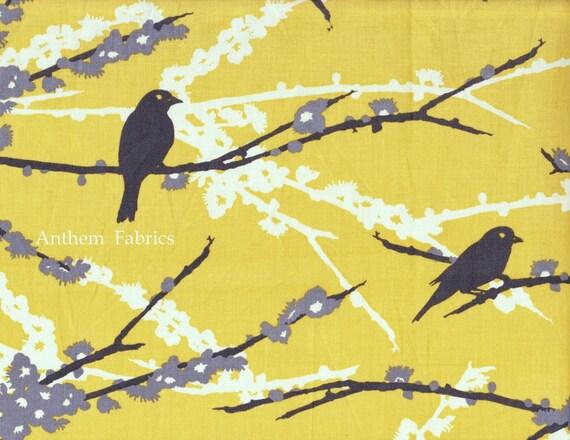 Custom Listing for sewveryhip: Joel Dewberry Aviary 2 - Sparrows JD41 Vintage Yellow, 1.5 yards