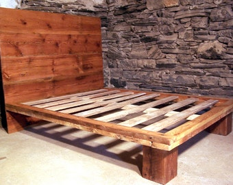 The Studio - Modern Platform Bed from Reclaimed Wood
