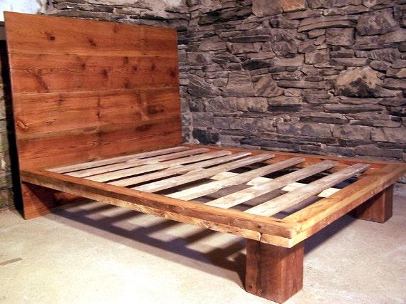 the studio modern platform bed from reclaimed wood. Black Bedroom Furniture Sets. Home Design Ideas