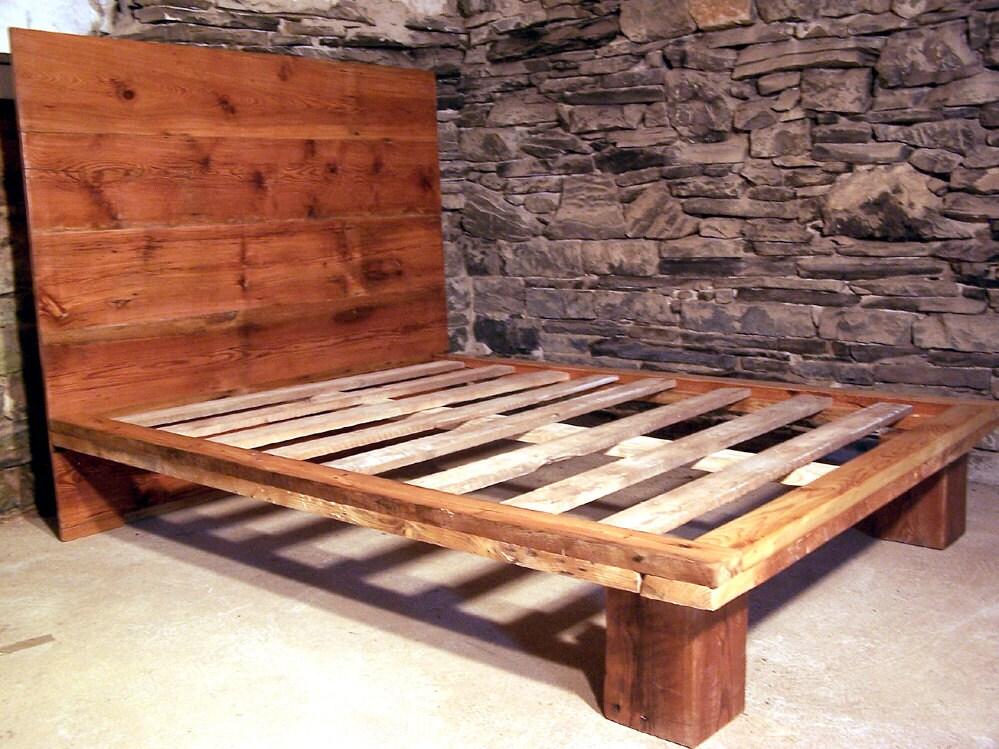 The Studio - Modern Platform Bed from Reclaimed Wood - Platform Bed Etsy