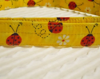 Custom Dog Collar with Red Ladybugs Sizes XS to XL