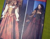 Vintage Repro Elizabethan Evening Gown Sewing Pattern - Simplicity 9256 Historic Pattern Costume / Size 6-8-10-12 UNCUT