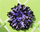 Pinup Girly Purple Hair Flower Clip