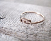 Infinity Ring Rose Gold Fill Stacking Ring Knot