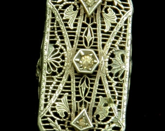 Art Nuaveau Filligree Ring