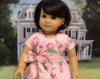Pink Rosebuds - dress for American Girl doll with jacket