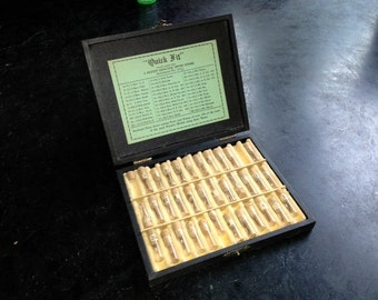 Quick Fit  Genuine Swiss Stems Watch part box with tiny number glass bottles
