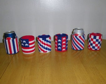Patriotic Can Cozies PATTERN ONLY