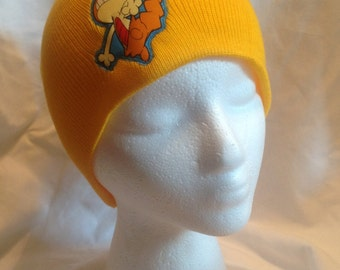 Pokemon Scraggy Beanie Skullcap Hat - made with up-cycled Pokemon fabric